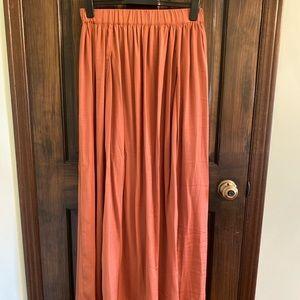 Forever 21 maxi skirt with slits